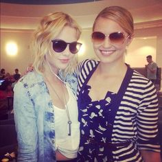 077484b614720 Ashley Benson and Ray-Ban RB4171 Erika Sunglasses (on the left) Ray Ban