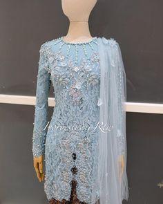 Kebaya Modern Dress, Kebaya Dress, Dress Pesta, Dresses With Sleeves, Formal Dresses, Long Sleeve, Ivory, Inspiration, Fashion