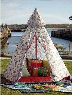 Beach Umbrella Alternative Teepee Love & Canvas Tipi Play Tent And Personalised Flag | Tipi Tents and ...