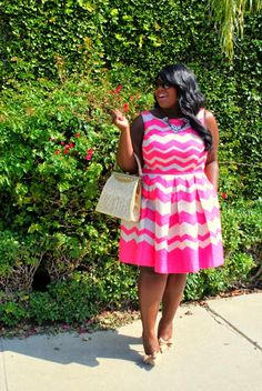 Pretty in pink. Musings of a Curvy Lady | October 2013. (Curvy fashion. Plus size. Body positive).