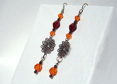 Handcrafted Bronze Dangle Earrings by tkmJewelryDesign on Etsy, $25.00
