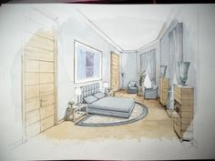 watercolor - hypothesis Master bedroom other examples on www.malleorossi.it