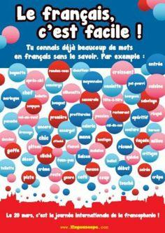 Affiche pour la Journée internationale de la Francophonie