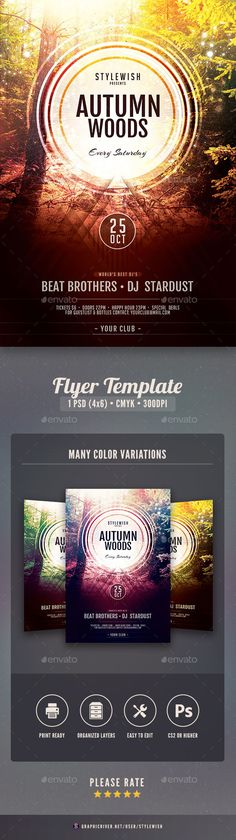 Music Flyer Bundle Vol 12 Music flyer, Flyer template and Event - music flyer