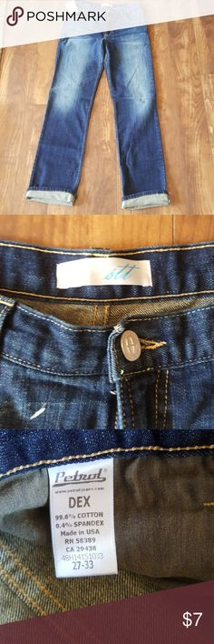 """New denim jeans Made in usa high rise straight leg. Great stretch in jeans which makes for an easy fit. 33"""" inseam uncuffed. stt Jeans Straight Leg"""