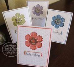www.inkandpapercafe.com  Stampin' Up! ~ Tara Bazata ~ Big Shot ~ Perfect Polka Dot Embossing Folder ~ Blossom Punch ~ A Word for You