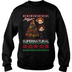 Supernatural TShirt  Merry Christmas Supernatural Ugly Sweater LIMITED TIME ONLY. ORDER NOW if you like, Item Not Sold Anywhere Else. Amazing for you or gift for your family members and your friends. Thank you! #ugly #t-shirt #shirt