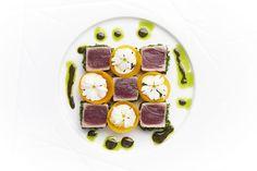 22.02 1º Gourmet Dinner . Tuna with ginger, chives and dark sesame seeds by Michel van der Kroft | por Festival Gastronómico