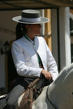 Romeria del Rocio, hat , summer style , women in suit