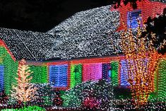These People Are Channeling Their Inner Clark Griswold Photos) – Suburban Men Hanging Christmas Lights, Christmas Light Displays, Christmas House Lights, Xmas Lights, Christmas Yard, Holiday Lights, Little Christmas, Christmas Colors, All Things Christmas