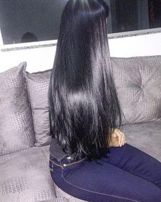 Thank you 👉 👈 for all the lovely photos sent, I've chosen this one and you really do have amazing hair! Long Dark Hair, Very Long Hair, Cheap Human Hair Wigs, Black Hair Dye, Silk Hair, Beautiful Long Hair, Amazing Hair, Her Hair, Hair Inspiration