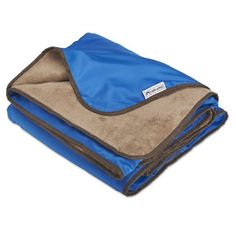 XL Plush Fleece Outdoor Stadium Waterproof Blanket (Blue)