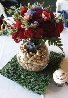 Wedding wedding details wedding ideas baseballs roses red roses sports themed weddings sports junglespirit Images