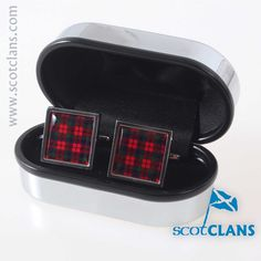 MacNaughton Tartan Cufflinks. Free worldwide shipping available.