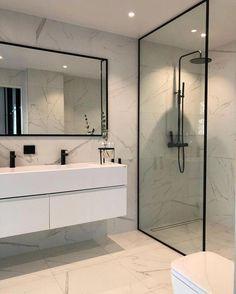 Trendy Bathroom Mirror With Shelf Floors Ideas Bathroom Mirror With Shelf, Best Bathroom Vanities, Small Bathroom, Master Bathroom, Bathroom Storage, Bathroom Organization, Diy Bathroom Remodel, Bathroom Renovations, Bathrooms Decor
