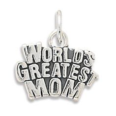 World's Greatest Mom Silver Charm by jewelrymandave on Etsy, $24.95