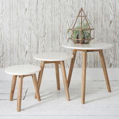 Bergen Nest of Tables White