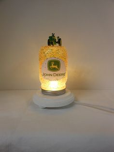 John Deere Mason Jar Night Light FREE SHIPPING by mlksck on Etsy, $25.00