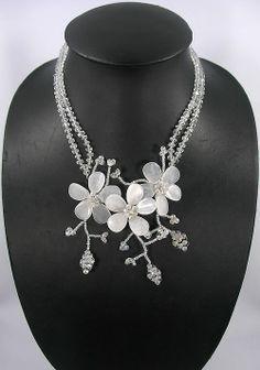 beadwork necklacebib necklacestatement by audreyjewelry on Etsy, $19.00