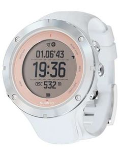 Suunto Ambit 3 Sport Sapphire Training Watch - White with Blush Bezel