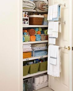 16 Incredible Hacks to Organize Your Linen Closet - The Krazy Coupon Lady