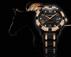 Master Horologer: Concord Saratoga Lady Black PVD and Rose Gold