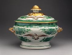 Tureen with cover (part of a service) Date: early century Culture: Chinese Medium: Hard-paste porcelain Dimensions: H. with cover 10 in. 14 in.) Made for the American market Antique China, Vintage China, Royal Copenhagen, Delft, Royal Doulton, Fine China, China Porcelain, Metropolitan Museum, Chinoiserie