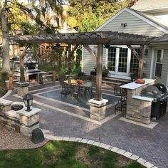 Get your garden or backyard in tip top shape for the summer months with these 50 gorgeous ideas for outdoor patios. Featuring pavers patio ideas pergola designs fully covered patios built in garden benches fire pits stylish patio dining sets . Wood Pergola, Backyard Seating, Backyard Pergola, Backyard Landscaping, Pergola Kits, Pergola Ideas, Landscaping Ideas, Cozy Backyard, Pergola Roof