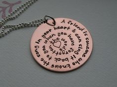 Copper Inspirational Quote Necklace by FireweedImpressions on Etsy, $22.00