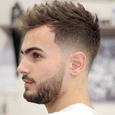 Short haircut 2016 - 2017 for men with textures