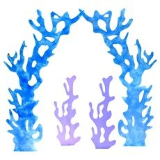 Under the Sea Coral Kit (set of 4) [i can probably make these with cardboard and paint)
