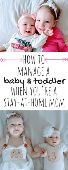 How to Manage a Baby and Toddler as a Stay-at-Home Mom | A play-by-play daily routine for a baby & toddler | Practical tips and advice for making it through the day as a stay-at-home mom of two! | Daily Routine | 2 Year Old's Daily Routine | 8 Month Old's Daily Routine |