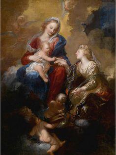 necspenecmetu:    Pietro Dandini, The Mystic Marriage of Saint Catherine, 17th century