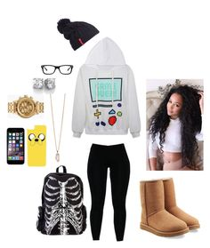 """""""Level Up """" by chauntinaw ❤ liked on Polyvore featuring CellPowerCases, Helly Hansen, Ray-Ban, Nixon, Zoya, UGG Australia, women's clothing, women, female and woman"""