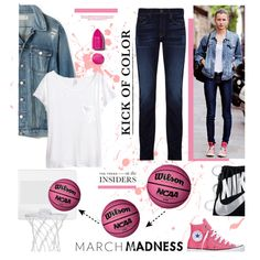 A fashion look from March 2016 featuring H&M t-shirts, Madewell jackets et J Brand jeans. Browse and shop related looks.