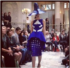 Opening outfit from Fashion Fringe 2011 winner Fyodor Golan's SS13 show #LFW at the Waldorf