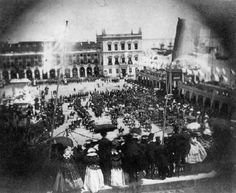Chegada de Dona Estefânia a Lisboa a 17 de Maio de 1858. Terreiro do Paço.