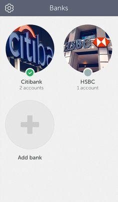 Concept idea of banking app by Cuberto, via Behance