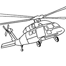 Sikorsky Black Hawk Helicopter Coloring Page