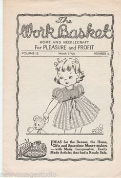 Three-3-1940s-THE-WORKBASKET-MINT-Great-Vintage-Patterns