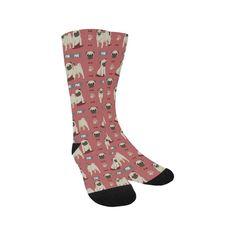 462a63014ac8  BFCM  CyberMonday  TeeAmazing -  e-joyer Pug Pattern Trouser Socks -