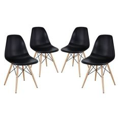 Pyramid Dining Side Chairs in Black - Set of 4