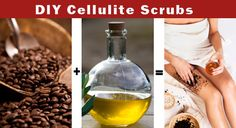 Coffee grounds + olive oil = no more cellulite!  Refrigerate used coffee grounds and heat for 30 seconds in microwave when ready to use.  Mix with enough olive oil to make a thick paste, then scrub into your problem areas.  Repeat 2 to 3 times a week.