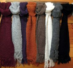 Boucle Alpaca Scarves from the Crystal Lake Alpaca Boutique! Beautiful!