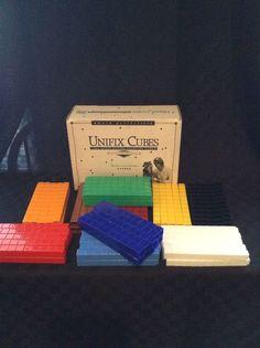 Didax 1000 Piece Interlocking Counting Cubes Math Learn Home-school Kids Teach #Didax