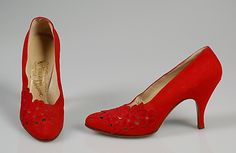 Rosina Ferragamo Schiavone (Italian). Pumps, 1958. The Metropolitan Museum of Art, New York. Brooklyn Museum Costume Collection at The Metropolitan Museum of Art, Gift of the Brooklyn Museum, 2009; Gift of Charline Osgood, 1960 (2009.300.5150a, b)