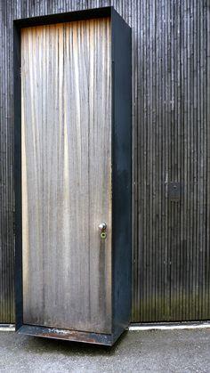 Peter Zumthor - Entry door to his Haldenstein studio, 1986. Via.