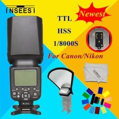 >> Click to Buy << For Canon Nikon D3100 D3200 D7000 D5000  DSLR Camera Wireless TTL HSS 1/8000S Speedlite Flash Speedlight INSEESI IN 586EX II  #Affiliate