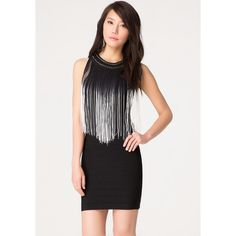 7e034d0f9752 Ombre Fringe Bandage Dress ($140) found on Polyvore Clubbing Clothes, Club  Outfits,
