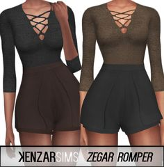 Zegar Romper at Kenzar Sims via Sims 4 Updates  Check more at http://sims4updates.net/clothing/zegar-romper-at-kenzar-sims/